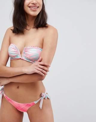 Rip Curl Last Light Reversible Mix And Match Tie Side Cheeky Bikini Bottom-Multi