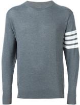 Thom Browne striped sleeve detail sweater