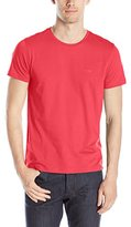 HUGO BOSS BOSS Green Men's Slim Fit Jersey Crew-Neck T-Shirt with Chest Logo