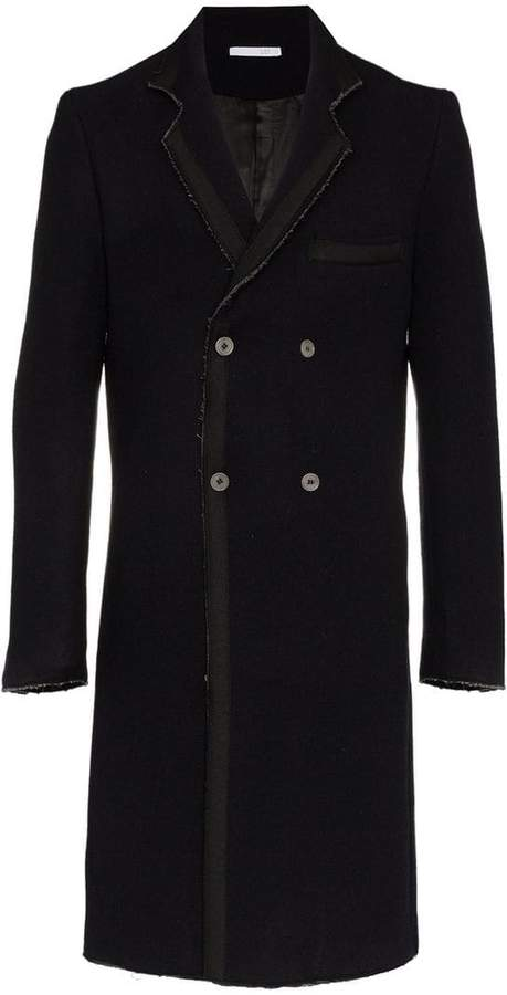 Lot 78 Lot78 double breasted wool blend overcoat