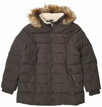 Larry Levine Women's 3/4 Parka with Sherpa