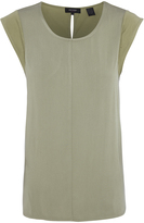 Oxford Patra Cap Sleeve T-Shirt Khaki X