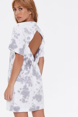 Forever 21 Tie-Dye Cutout T-Shirt Dress