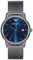 Emporio Armani Slim Mesh Strap Watch, 43Mm
