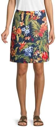 Tommy Bahama Botanical-Print Mini Skirt