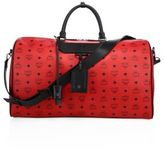 MCM Weekender Canvas & Leather Duffle Bag