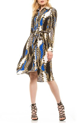 Alexia Admor Cecilia Tie Waist Shirt Dress