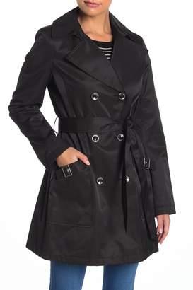 Via Spiga Tie Waist Double Breasted Trench Coat