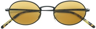 Oliver Peoples Round Golden Tint Sunglasses