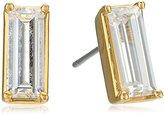 Nicole Miller Medium Baguette Gold Stud Earrings