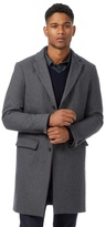 J By Jasper Conran Grey Wool Blend Herringbone Textured Overcoat