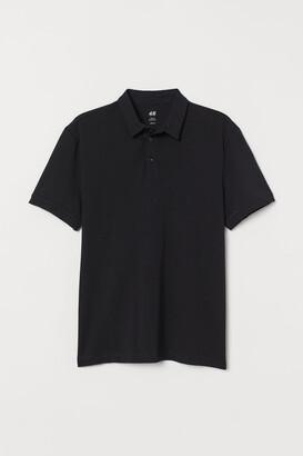 H&M Slim Fit Polo Shirt - Black