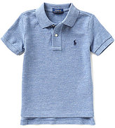 Ralph Lauren Little Boys 2T-7 Short-Sleeve Heathered Polo Shirt