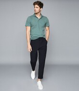 Reiss Beckton - Textured Polo Shirt in Apple