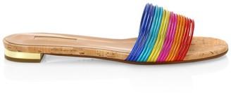 Aquazzura Bangle Rainbow Flat Sandals