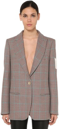 Off-White Off White Checked Virgin Wool Jacket