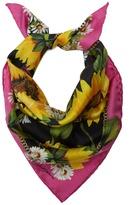Dolce & Gabbana Sunflower-print silk-twill scarf