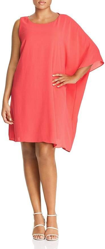Adrianna Papell Plus One-Sleeve Caftan Dress