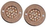 Michael Kors Ion-Plated Pavé Disc Stud Earrings