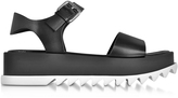 Jil Sander Black Leather Platform Sandal
