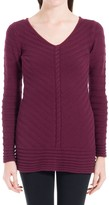 Max Studio Textural Knitted Pullover