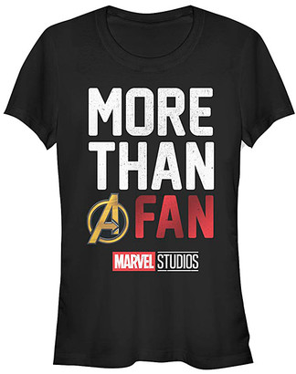 Fifth Sun Women's Tee Shirts BLACK - Avengers Black 'A Fan' Crewneck Tee - Women & Juniors