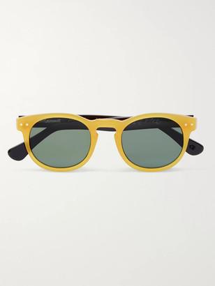 E.B. Meyrowitz The Forli Round-Frame Two-Tone Acetate Polarised Sunglasses