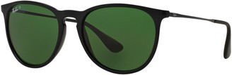 Ray-Ban RB4171 Women's Erika Polarised Oval Sunglasses