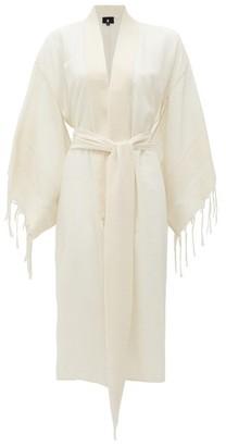SU PARIS Kiba Ribbed Cotton Robe - Beige