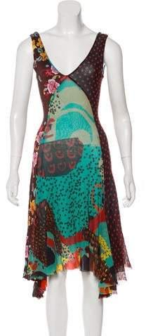 Fuzzi Abstract Print Midi Dress