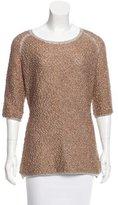 Dries Van Noten Textured Metallic Sweater