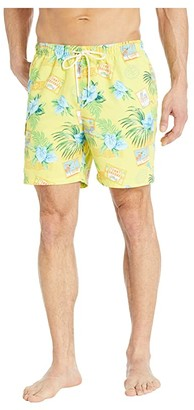 Tommy Bahama Naples Aloha From Paradise Volley (Yellow Daisy) Men's Swimwear