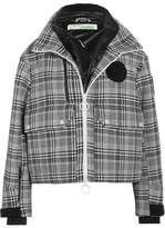 Off-White Padded Prince Of Wales Checked Tweed Jacket - Gray