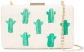 Kayu cactus embroidery woven clutch - women - Straw - One Size