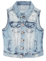 Tractr Girl's Tract Deconstructed Denim Vest