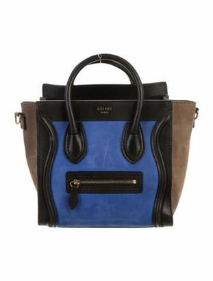 Celine Nano Luggage Tote gold