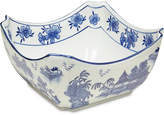 "One Kings Lane 8"" Square Chinoiserie Bowl - Blue/White"
