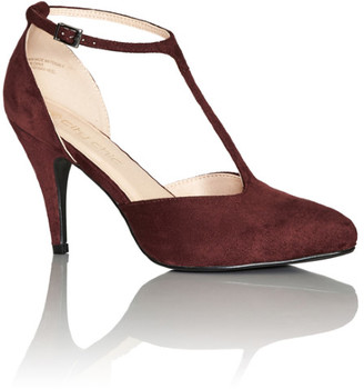 City Chic Stefania Heel - red wine