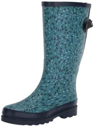Western Chief Women Wide Calf Waterproof Rain Boot Dot to Dot 11
