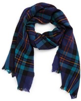 Drakes Men's Plaid Wool Scarf