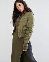 Noisy May Bay Cargo Bomber Jacket