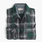J.Crew Wallace & Barnes heavyweight flannel shirt in green check