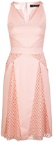 Marios Schwab Sleeveless lace panel dress