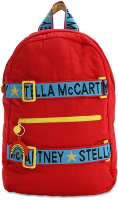 Stella Mccartney Kids Star Embroidered Nylon Backpack