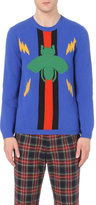Gucci Bolts And Bee Intarsia Knitted Jumper