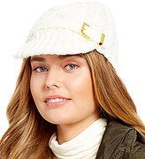 Michael Kors Classic Cable-Knit Newsboy Cap