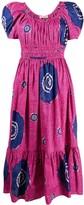 Ulla Johnson floral short-sleeve midi dress
