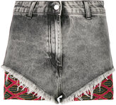 Circus Hotel denim and lurex shorts - women - Cotton/Polyester/Viscose - 27
