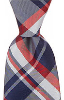 Roundtree & Yorke Trademark Proper Plaid Narrow Silk Tie