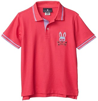 Psycho Bunny Kids Tynemouth Polo (Toddler/Little Kids/Big Kids) (Punch) Boy's Clothing